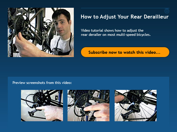 Bike Gear Adjustment How to Adjust Your Rear