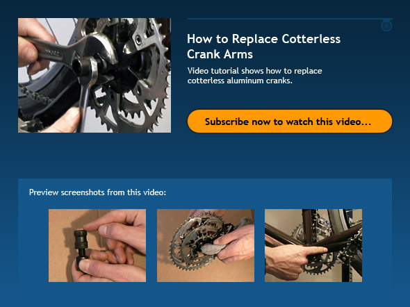 How to Replace Cotterless Crank Arms