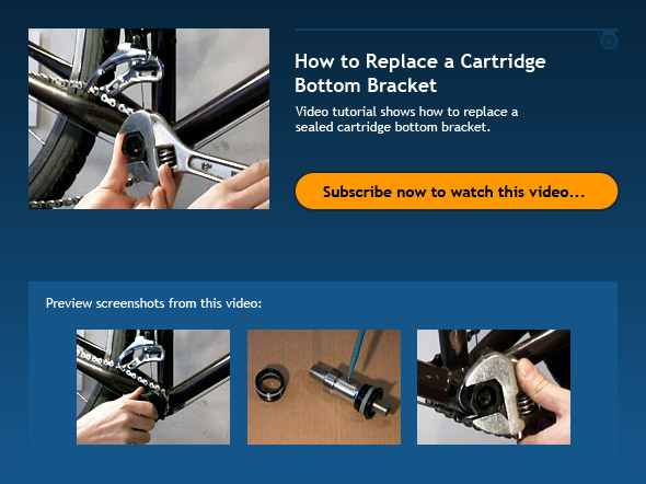 How to Replace a Cartridge Bottom Bracket