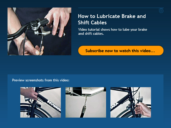 How to Lubricate Brake and Shift Cables
