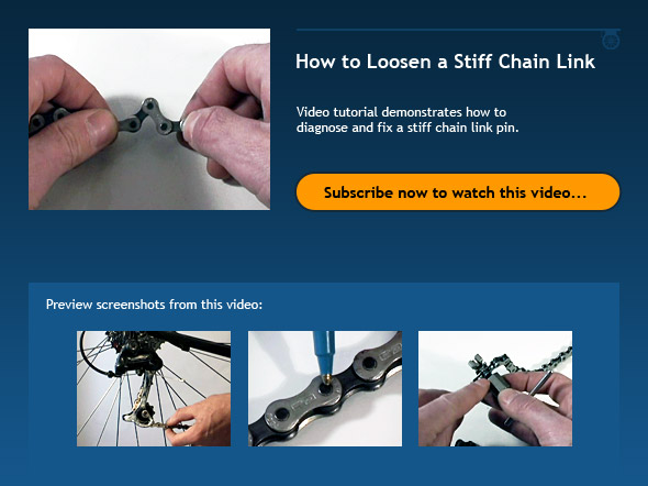 How to Loosen a Stiff Chain Link