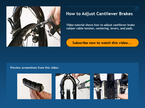 How to Adjust Cantilever Brakes