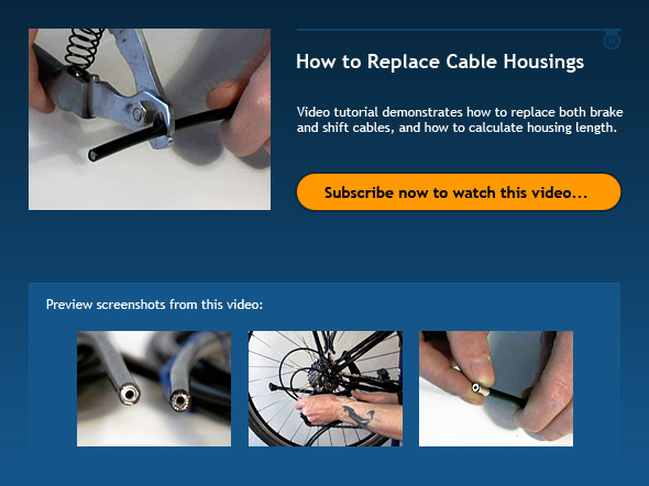 How to Replace Cable Housings