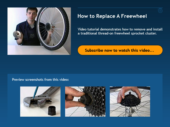 How to Replace A Freewheel