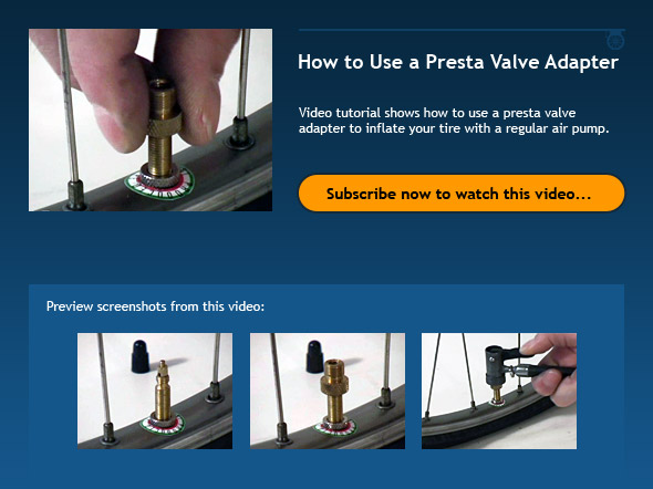 How to Use a Presta Valve Adapter