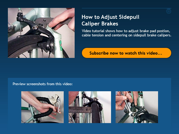 How to Adjust Sidepull Caliper Brakes