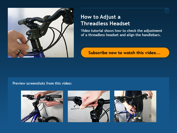 How to Adjust a Threadless Headset