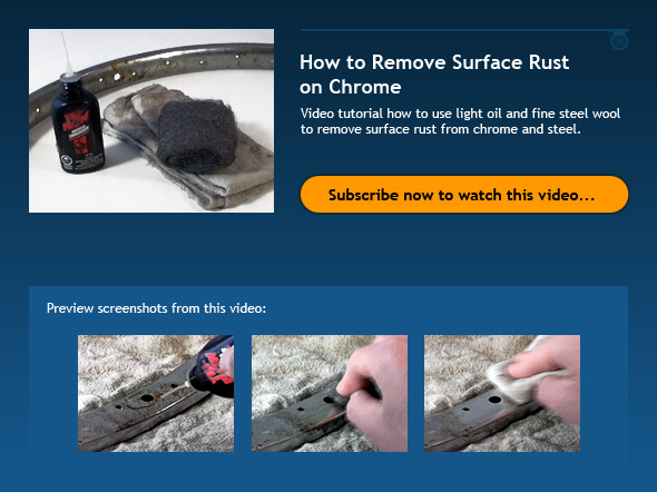 How to Remove Surface Rust on Chrome