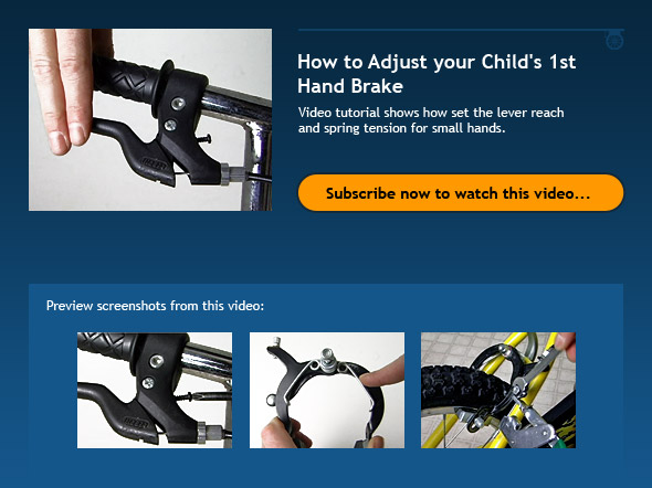 How To Adjust Your Child S 1st Hand Brake Bicycle Tutor Video