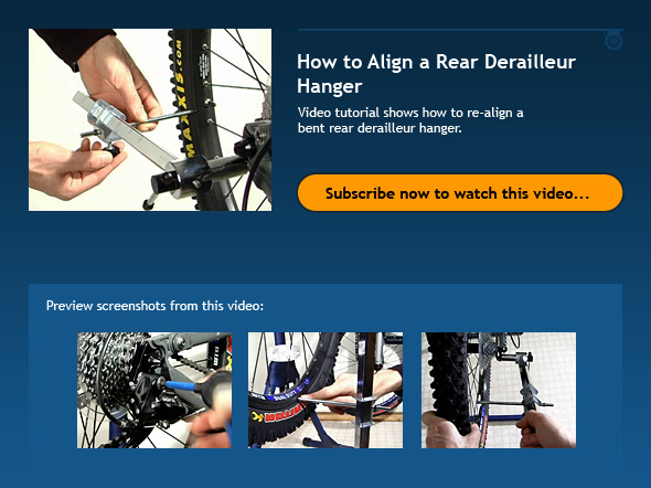 How to Align a Rear Derailleur Hanger