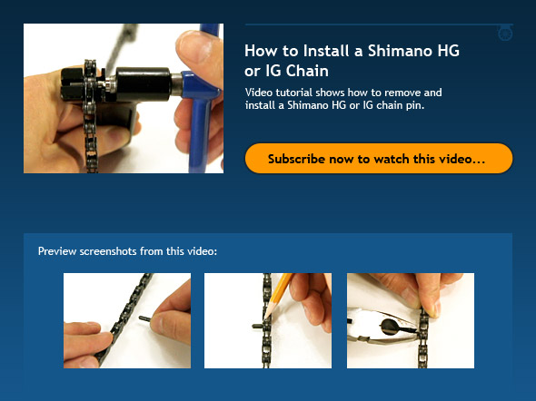 How to Install a Shimano HG or IG Chain
