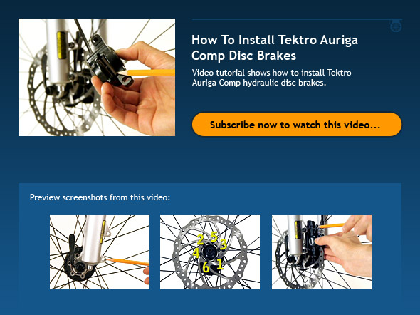 How To Install Tektro Auriga Comp Disc Brakes