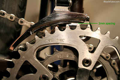 front derailleur height adjustment